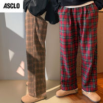 ASCLO Printed Pants Tartan Street Style Collaboration