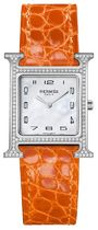 HERMES Blended Fabrics Leather Square With Jewels Elegant Style