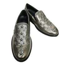 Jimmy Choo Star Studded Street Style Leather Loafers & Slip-ons