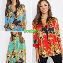 boohoo Paisley Casual Style Cropped Other Animal Patterns