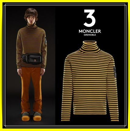 MONCLER Knits & Sweaters Stripes Wool Long Sleeves Knits & Sweaters
