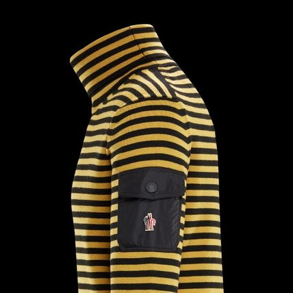 MONCLER Knits & Sweaters Stripes Wool Long Sleeves Knits & Sweaters 3