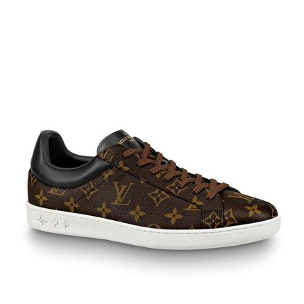 Louis Vuitton Loafers & Slip-ons Monogram Unisex Blended Fabrics Street Style Bi-color 2