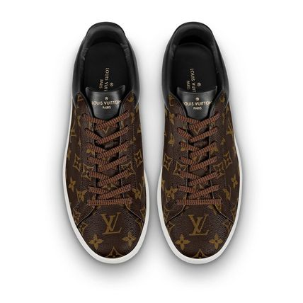Louis Vuitton Loafers & Slip-ons Monogram Unisex Blended Fabrics Street Style Bi-color 4