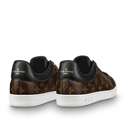 Louis Vuitton Loafers & Slip-ons Monogram Unisex Blended Fabrics Street Style Bi-color 5