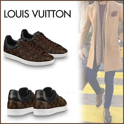 Louis Vuitton Loafers & Slip-ons Monogram Unisex Blended Fabrics Street Style Bi-color