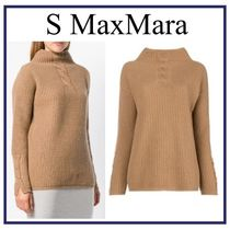 S Max Mara Cable Knit Casual Style Wool Long Sleeves Plain Medium