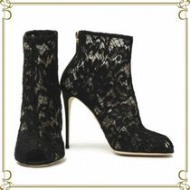 Dolce & Gabbana Open Toe Pin Heels Party Style Ankle & Booties Boots