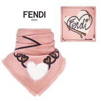 FENDI Silk Blended Fabrics Lightweight Scarves & Shawls