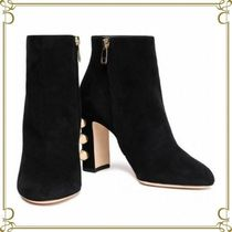 Dolce & Gabbana Suede Block Heels Elegant Style Ankle & Booties Boots