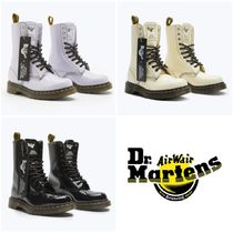 Dr Martens Casual Style Unisex Street Style Collaboration Plain Leather