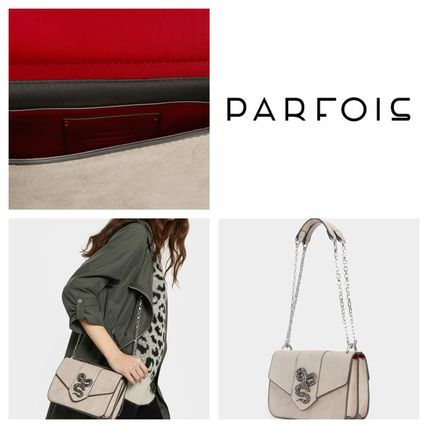 d57d084afbf1 ... PARFOIS Shoulder Bags Casual Style Faux Fur Plain Shoulder Bags ...