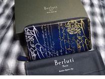 Berluti Leather Long Wallet  Long Wallets