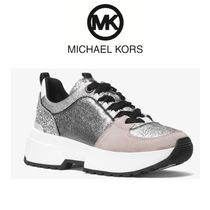 Michael Kors Round Toe Rubber Sole Lace-up Casual Style