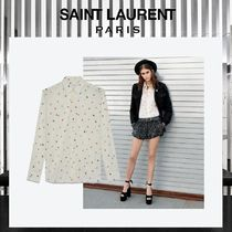 Saint Laurent Star Wool Long Sleeves Shirts & Blouses