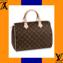Louis Vuitton Monogram Casual Style Leather Handmade Handbags