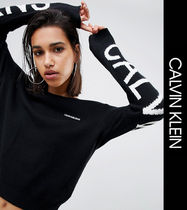 Calvin Klein Crew Neck Casual Style Street Style Long Sleeves Sweaters