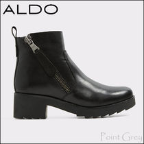 ALDO [ALDO] Leather Side-zipper Ankle Boots - Ysolonna