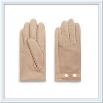 TED BAKER Plain Leather Leather & Faux Leather Gloves