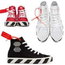 Off-White Stripes Street Style Sneakers