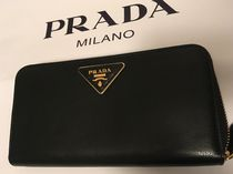 PRADA Plain Long Wallets