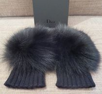 Christian Dior Cashmere Plain Smartphone Use Gloves
