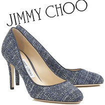 Jimmy Choo Other Check Patterns Round Toe Tweed Pin Heels Party Style