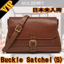 Mulberry Plain Leather Office Style Shoulder Bags