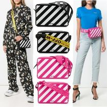 Off-White Casual Style 2WAY Leather Shoulder Bags