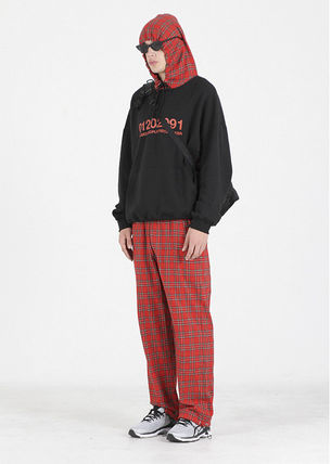 Other Plaid Patterns Street Style Cotton