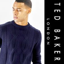 TED BAKER Crew Neck Cable Knit Long Sleeves Vests & Gillets