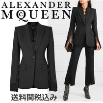 alexander mcqueen Plain Leather Elegant Style Jackets