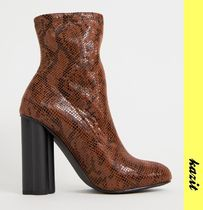 ASOS Casual Style Python Ankle & Booties Boots