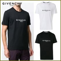 GIVENCHY Crew Neck Street Style Plain Cotton Short Sleeves