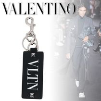 VALENTINO Studded Bi-color Leather Keychains & Holders