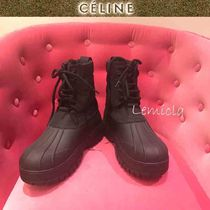 CELINE Mountain Boots Round Toe Casual Style Plain Outdoor Boots