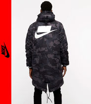 Nike Camouflage Street Style Long Parkas