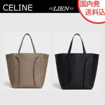 CELINE Cabas Phantom Plain Leather Elegant Style Totes
