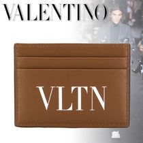 VALENTINO Bi-color Leather Card Holders
