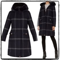 TED BAKER Other Check Patterns Wool Medium Elegant Style Chester Coats