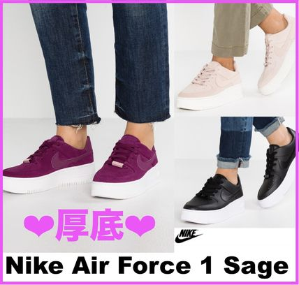 a7acc16eac7 ... Nike Platform   Wedge Platform Casual Style Suede Street Style ...