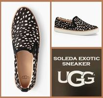UGG Australia Plain Toe Rubber Sole Casual Style Other Animal Patterns