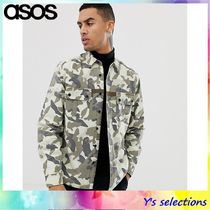 ASOS Camouflage Street Style Long Sleeves Cotton Shirts