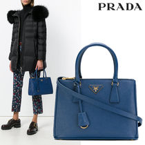 PRADA Saffiano 2WAY Plain Elegant Style Handbags
