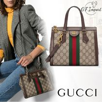 GUCCI Ophidia Casual Style Canvas 2WAY Totes