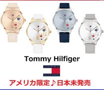 Tommy Hilfiger Casual Style Leather Round Quartz Watches Analog Watches