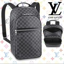 Louis Vuitton DAMIER GRAPHITE Other Check Patterns Blended Fabrics Street Style A4 2WAY