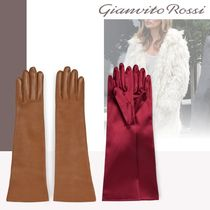 Gianvito Rossi Plain Leather Leather & Faux Leather Gloves