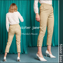 Sister Jane Other Check Patterns Casual Style Long Skinny Pants