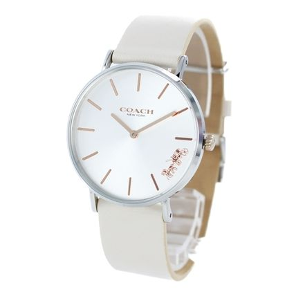 Coach Casual Style Street Style Round Quartz Watches Office Style